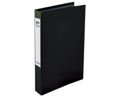 Slim 2Ring File L-Black
