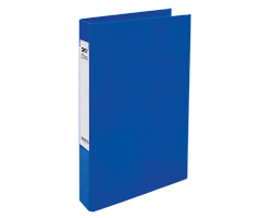 Slim 2Ring File L-Dark Blue