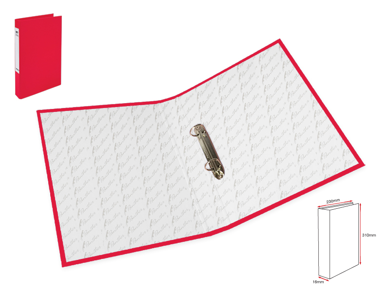 Slim 2Ring File L-Red