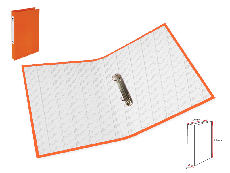 Slim 2Ring File L-Orange