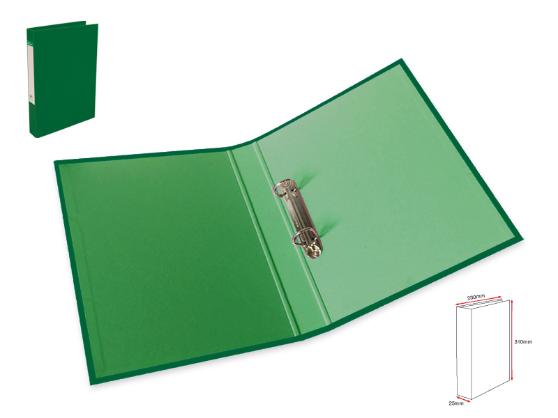 2Ring File L-Dark Green