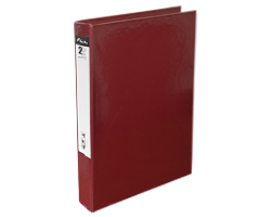 front-Slim 2Ring File L-Maroon