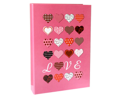 2Ring File L Design-Pink Heart