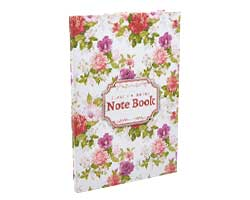 front-Classic Flowers A5 Diary Notebook