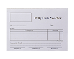 Petty Cash Voucher Pad 50L