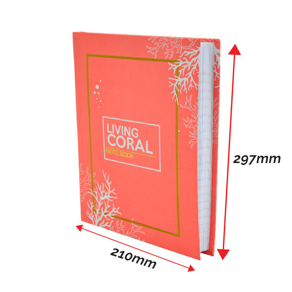 Living Coral Diary Notebook