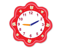 Clock Flower Red