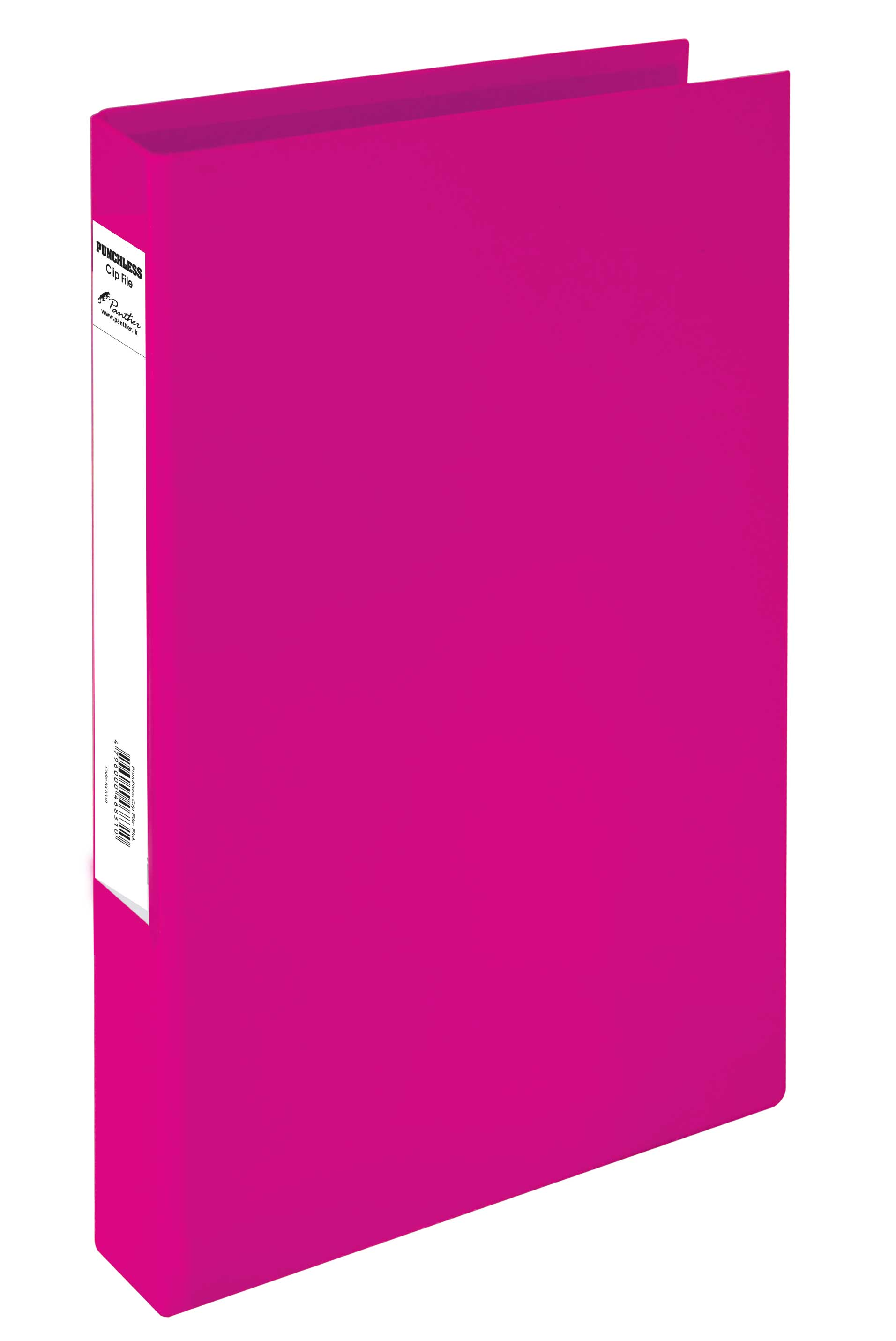 Boxfile Punchless Clip-Pink